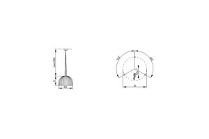 Светильник подвесной светодиодный CITRO 600 4000K, белый