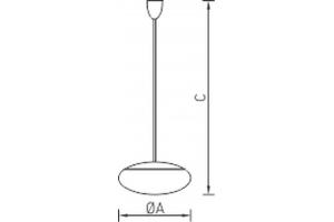 Светильник подвесной на кронштейне/штанге DAPHNE K 450/275 WH