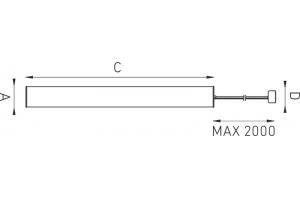 Светильник подвесной TUBE 214