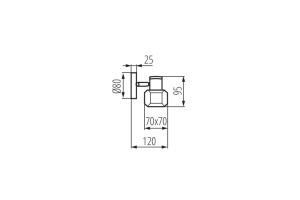Светильник настенно-потолочный спот GLASO EL-1O, хром