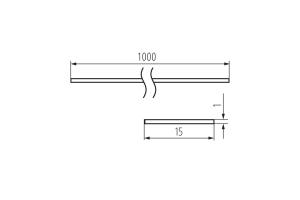 Рассеиватель белый SHADE C/D/E/I-W для профилей PROFILO, 1м (упак. 10 шт.)