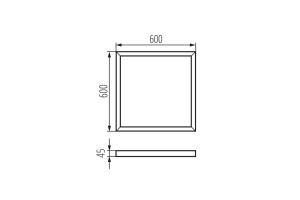 Рамка для поверхностного монтажа BRAVO ADTR 6060 SR