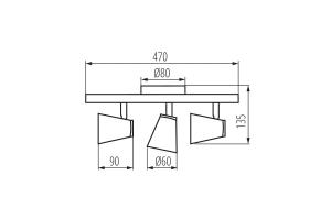 Светильник настенно-потолочный спот ENALI EL-3I W, белый