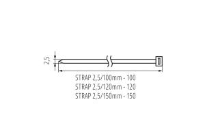 Кабельная стяжка STRAP 2,5/100MM