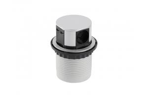 Настольный удлинитель COMFORT 3 гнезда, 2 USB 5V 2A, с кабелем, алюминий