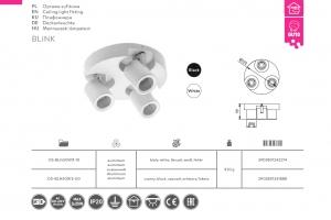 Светильник потолочный BLINK 20W*3, IP20, тройной, белый