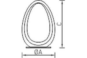 Лампа настольная декоративная OVO T 3 BU 3000K, синий корпус