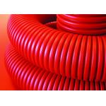 Труба  гибкая двухстенная для кабельной канализации д160мм, цвет красный  в бухте 50м с протяжкой
