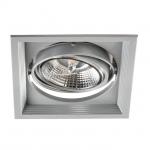 Светильник встраиваемый downlight ARTO 1L-SR, квадратный серебряный