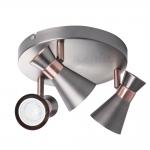 Светильник настенно-потолочный MILENO EL-3O ASR-AN, серебро/медь