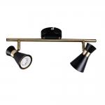 Светильник настенно-потолочный MILENO EL-2I B-AG, черный/золотой