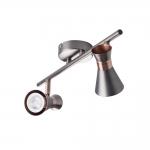 Светильник настенно-потолочный MILENO EL-2I ASR-AN, серебро/медь