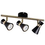 Светильник настенно-потолочный MILENO EL-3I B-AG, черный/золотой