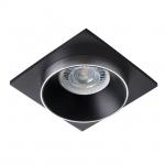 Светильник точечный SIMEN DSL SR/B/B, серебро/черный/черный