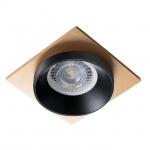 Светильник точечный SIMEN DSL B/B/G, черный/черный/золото