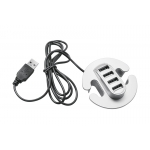 Удлинитель на 4 входа USB, серебристый