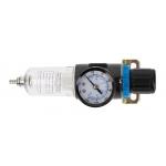 "Фильтр-регулятор с манометром пневматический 1/4"", 15 см³, 9 бар/135 PSI HT4R871"