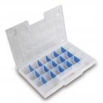 """Органайзер 12"""", с регулируемыми перегородками, 29x19,5x3,5 см HT7G022"""