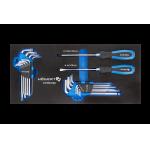 Набор отверток, ключи HEX и TORX 20 шт., ложемент EVA HT7G134