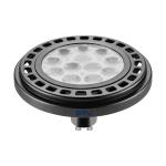 Светодиодная лампа ES111 POWER 12W 3000K, черная, прозрачное стекло