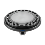Светодиодная лампа ES111 POWER 12W 3000K, черная, молочное стекло