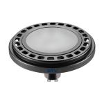 Светодиодная лампа ES111 POWER 12W 4000K, черная, молочное стекло