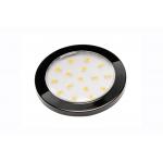 Светодиодный мебельный светильник LUMINO 1,5W, 2700K, черный глянец