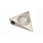 Светодиодный мебельный светильник с выключателем 1,8W, 6400K, инокс