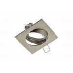 Светильник точечный встраиваемый поворотный PORTO-K квадратный, инокс
