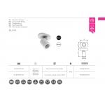 Светильник потолочный BLINK 20W, IP20, одиночный, белый