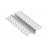 Алюминиевый профиль LED GLAX линейный для гипсокартона, 3м, серебристый