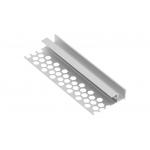 Алюминиевый профиль LED GLAX потолочный для гипсокартона, 3м, серебристый