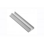 Алюминиевый профиль LED GLAX торцевой кромочный односторонний, 16мм, 3м, серебристый